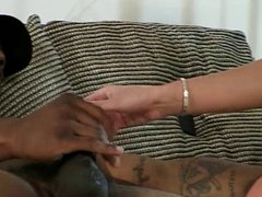 Chick in heat butt-banged by a black cock