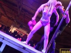 Pornstars orgy in the pole dance