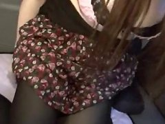 Special blowjob in the car by naughty Japanes