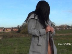 Dark mysterious Chloe Lovettes public nudity and outdoor