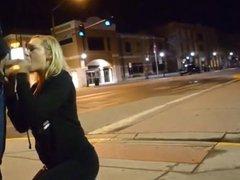 amateur blows random guy in the street