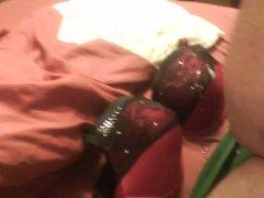 my moms red padded bra
