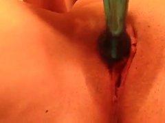 Dildo masturbating blonde amateure Milf