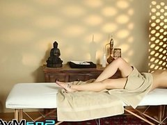 Hot Charly seduces masseur with blowjob