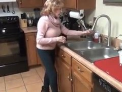 Granny big boobs high heels