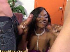 Lingerie ebony ho pounded