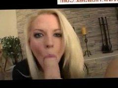 Blonde slut in a hot pov scene
