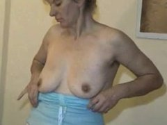 Granny Show Us Her Old Hairy Pussy