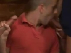 3 Lads in Club Flip Flop Fuck Bar Man