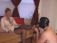 Venus Divine dominates foot bitch