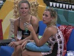 Big Brother Brazil - Nathália and friend smoking