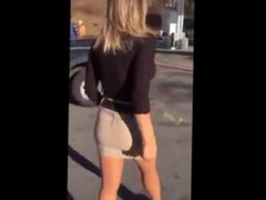 Just a Hot Blonde from SEXDATEMILF.COM Pumping Gas