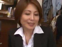 mature teacher satsuki kirioka upskirt gropped during fake class reunion