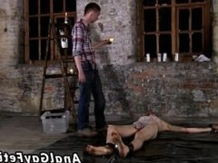 Teen boy twink sex tube Chained to the warehouse floor and unable to