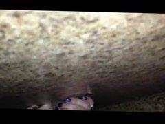 Swinger wife sucks and fucks in the gloryhole