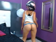 Cute Girl playing with motor helmet on webcams - more at myhottestcams.com