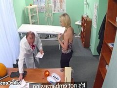 Costumed doctor fucks married blond