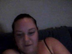 Chubby teen fingers on cam