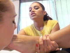 Girl loves being dominated by teachers feet