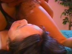 Hot shemale gets her round ass licked by chick and her cock sucked