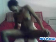 Black chick fucked in front of black boyfriend