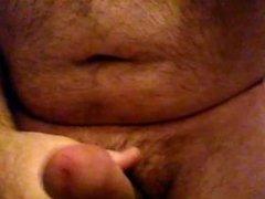 Solo masturbation twitching cock