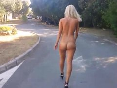 Nude public walk