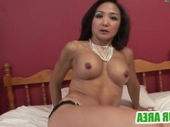 Hot asian milf playing with herself