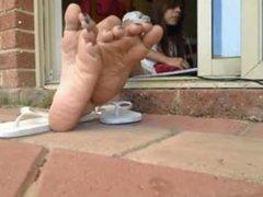 Foot Fetish & Long Toes (Soles Girl) Close