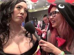 Hitomi Tanaka & Harriet Sugarcookie talk sex