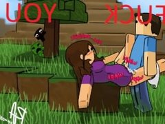 Smooth Ukulele Music with Hot Teen Minecraft Babe Getting Fucked by Steve