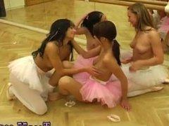 Brunette big tits dildo Hot ballet female orgy