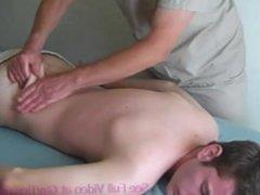 Swim Team Captain Gets Massaged