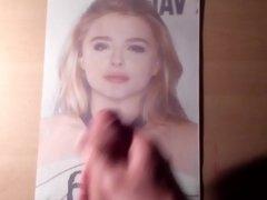 Cum Tribute 6 on Chloe Moretz
