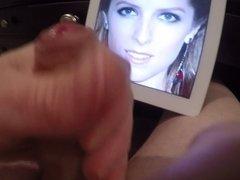 Masturbating and Cumming on Anna Kendrick's Face