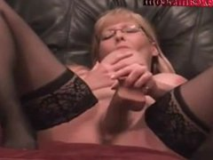Two Huge Squirts From Milf Webcam Girl