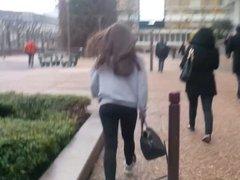 Legging girl fast walking