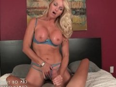 Hot Blonde MILF Draining Cock On Her Big Tits