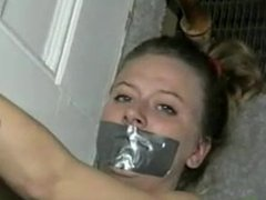 girl tape gagged