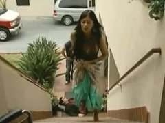 Sofia Vergara big boobs bouncing on stairs