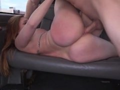Redhead gets fucked and sits on a face