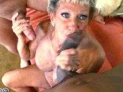 Grandma Interracial Gangbang Queen - Tanned Sandra Ann Age 75!