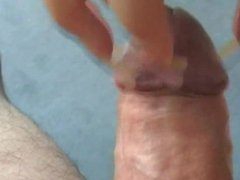 Long nails scratching tease and handjob