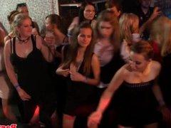 European party amateur sucking on dancefloor