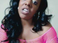 BBW Ebony Goddess exposes and humiliates widdle white boi weewee