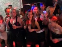 European party amateur cocksucking on dancefloor