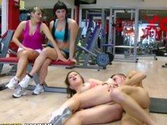 Real whore banged at gym