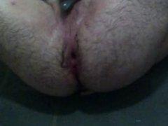 Slamming a dildo up my ass Gape