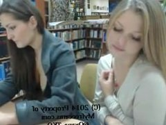 two girls nude in library (1)