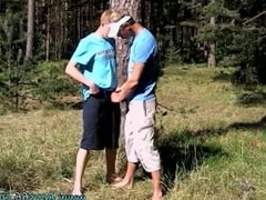 Gay teens porno tube Roma and Artur Piss Play Outside